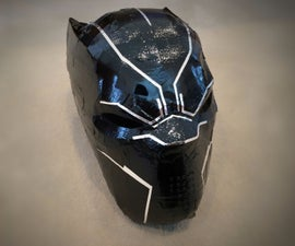 Duct Tape Black Panther Mask