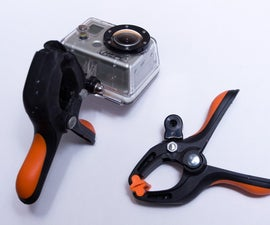 GoPro clamp-mount for multiple angles with one camera (great for cycling!)