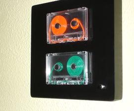 Hanging EL Wire Cassette Display