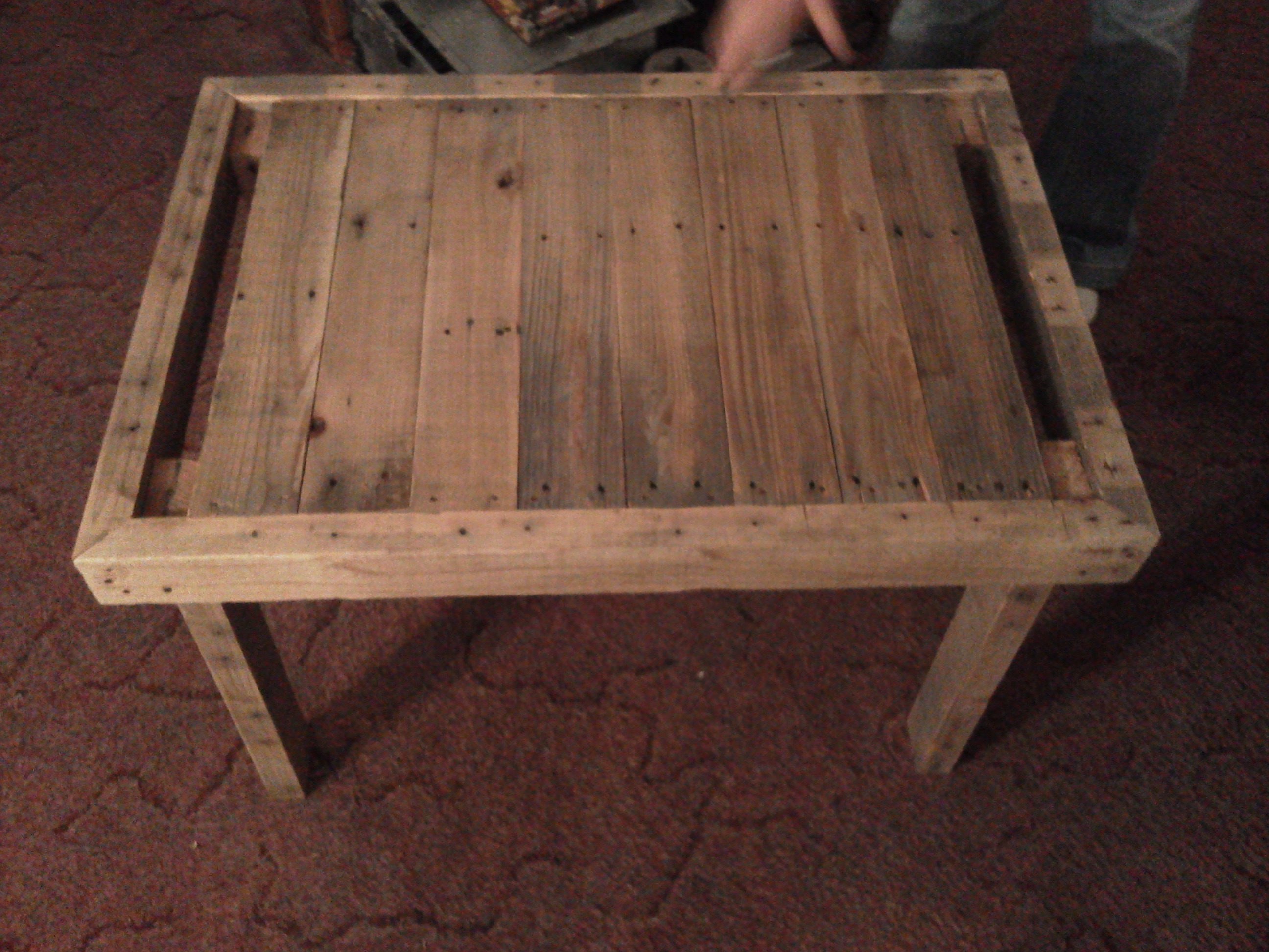 Picture of Pallet End Table From Reused Wood