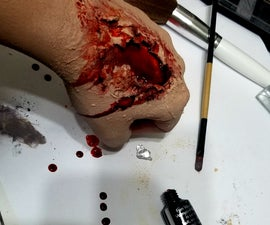 Realistic Torn Flesh Effect Makeup