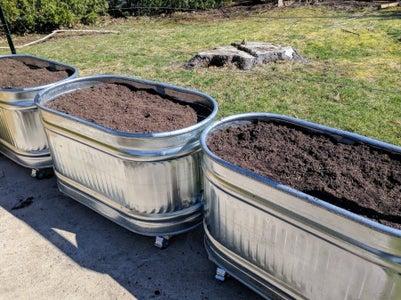 How I Made Galvanized Trough Planters