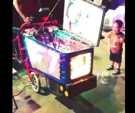 LED Rave Solar Shopping Cart Tricycle