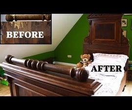 家具装修(以破旧古董床为例)