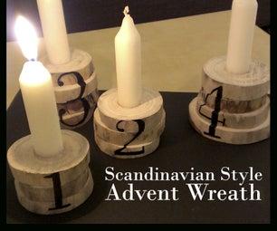 Scandinavian Style Advent Wreath