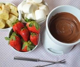 Valentine's Bellini and Chocolate Fondue