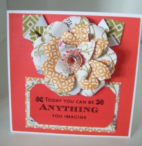 How to Make a Textile Paper Flower Card