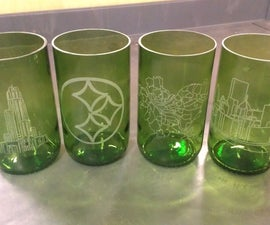 Laser Engraved Recycled Wine Bottle Glasses
