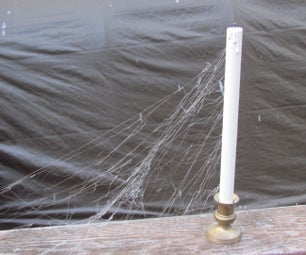 Hot Glue Cobwebs