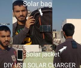 DIY SOLAR JACKET(Usb Phone Charger)