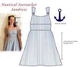 Nautical Seersucker Sundress