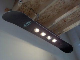 Snowboard Light Fixture