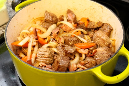 Add the Beef and Accoutrement