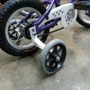 Quiet training wheels
