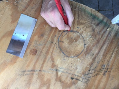 Trace the Interior of the Bathroom Flange