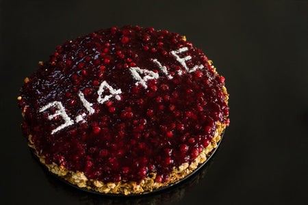The SymmetriPi: Tangy Chocolate and Cranberry Pie With Popcorn Crust