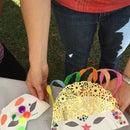 Paper Plate Mardi Gras Light Up Masks