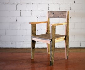 Solid reclaimed Wood Chair