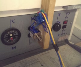 Light Triggered Auto Reset Button Pusher for Boiler