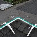 Frame for installing Christmas rope lights on ridgeline of roof