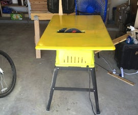 Larger Top For Table Saw
