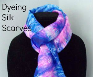 """How to """"Marble"""" Dye Pretty Silk Scarves"""