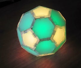 Bluetooth/Gyroscope/Accelerometer controlled Lightball (with individual adjustable leds in each side)