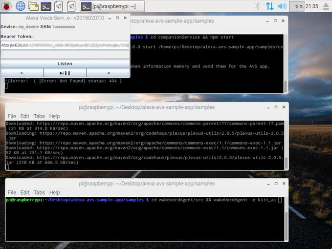 Picture of Run Your Web Service, Sample App and Wake Word Engine