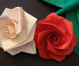 How to make an Easy origami Rose Bouquet!