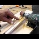 Simple wide belt sander for wooden strips