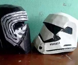 Helmet stormtrooper new cardboard (Star Wars - The awakening of force)
