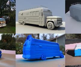 How to 3D print a custom car model (1966 Chevy Bus)