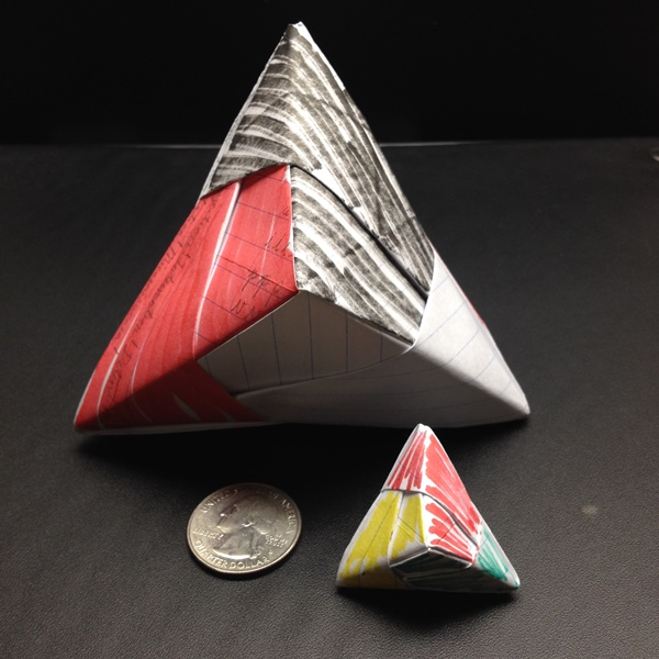 Picture of How to Make a Triangular Hexahedron Out of Paper (Sonobe Units)