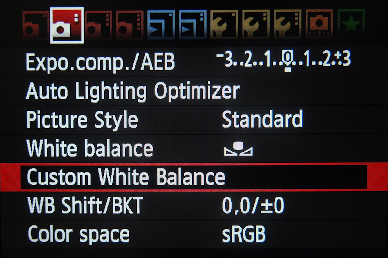Picture of White Balance