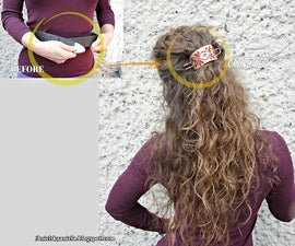 Recycled Leather Hair Barrette