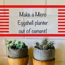Make a Micro Eggshell Planter out of cement for Tiny Succulent Plants!