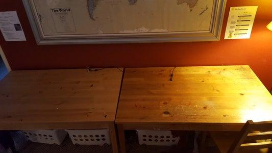 Computer Desk and Storage