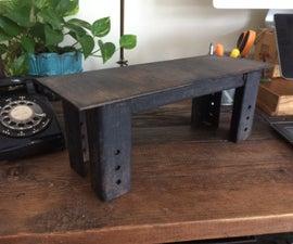 Hot glue faux cast iron weld beads