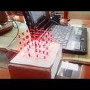 3D led cube 4x4x4