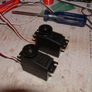 Modify a Futaba S3001 servo for continuous rotation