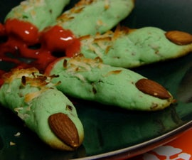 Frankenstein Finger Cookies