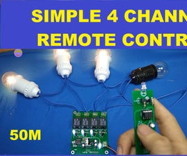 How to Make Simple 4 Channel ON OFF Remote Control