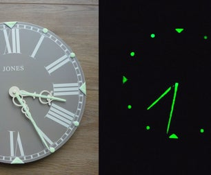 How to Give a Wall Clock Luminous Hands and Time Interval Markers