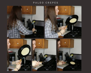 Swirling the Batter in the Pan - Making the Paleo Crepes