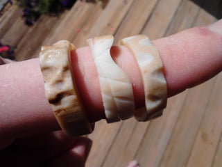 Faux Ivory Ring Carved From Bone 7 Steps With Pictures Instructables