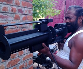 Tennis Ball Shotgun Launcher Cannon Homemade