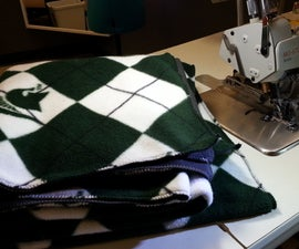 Easy Fleece Blanket With a Serger