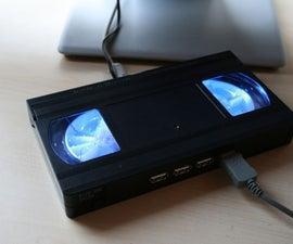 Glowing video tape USB hub