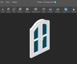 SelfCAD: Rounded Window Modeling