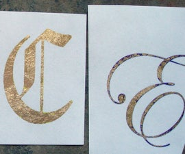 Easy Glueless Gold Leafing on Paper